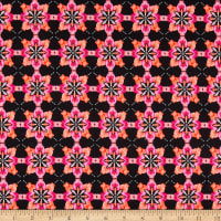 Benartex Blooming Beauty Majestic Medallions Coral/Pink