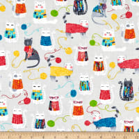 Kanvas Knit Together Cats Gray