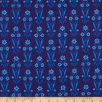 Benartex Somerset Daisy Bouquet Navy