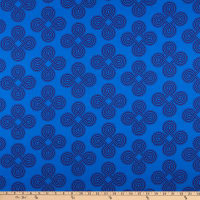 Benartex Somerset Medallion Blue