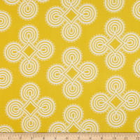 Benartex Somerset Medallion Yellow