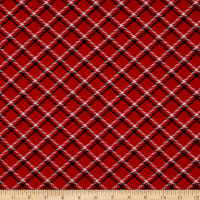 Kanvas Dotty For Scottie Dottie For Scottie Plaid Red