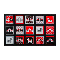 "Kanvas Dotty For Scottie Dotty For Scottie Boxes 30"" Panel Black"