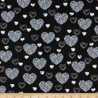 Kanvas Dotty For Scottie Dotty Heart Black