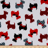 Kanvas Dotty For Scottie Sweet Scotties White