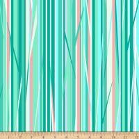 Clothworks A Beautiful Day Stripe Turquoise