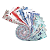 "Clothworks Tiny Print Nation 2.5"" Strips Roll 40 Pcs Multi"