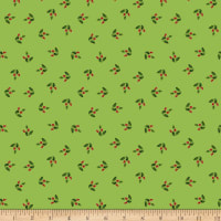 Clothworks Merry & Bright Toss Olive Metallic