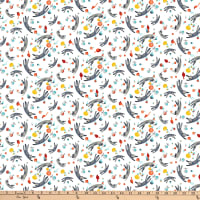 Clothworks Purrfect Christmas Toss White