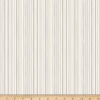Clothworks Winter Woodland Stripe Light Khaki