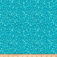 Clothworks Winter Woodland Dot Teal