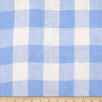"Tencel Double Cloth 1.5"" Plaid Sky"