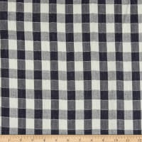 "Tencel Double Cloth 3/4"" Plaid Navy"