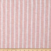 Yarn Dye Stripe Linen Blend Peach/White