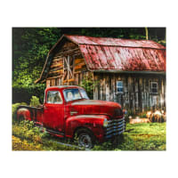 "Truck At The Barn 36"" Panel Multi"