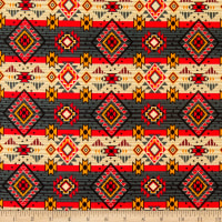 David Textiles Native Diamonds Grey/Red