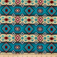 David Textiles Native Diamonds Turquoise/Multi