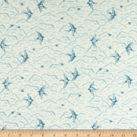 Andover/Makower UK Grove Swallows Cream