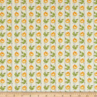Andover Roseberry Cottage Floral Stripe Yellow