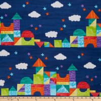 Andover The Very Hungry Caterpillar: Bright Castle Stripe Dark Blue