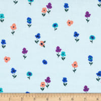 Michael Miller Dilly Dahlia Just In Bloom Powder Blue