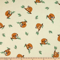 ArtCo Prints Lazy Sloth Cream