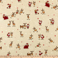 ArtCo Prints Santa & Friends Story Tan