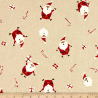 ArtCo Prints Happy Santa Natural