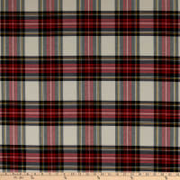ArtCo Prints Tartan Plaid Big Ecru