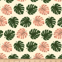 Paintbrush Studio Green Thumb Girls Tropical Leaves Cream