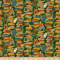 Paintbrush Studios Forest Fables Stacked Books Orange Green
