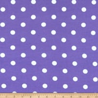 Fabric Merchants Cotton Spandex Jersey Knit Polka Dot Purple/Ivory
