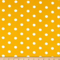 Fabric Merchants Cotton Spandex Stretch Jersey Knit Polka Dot Mustard/Ivory