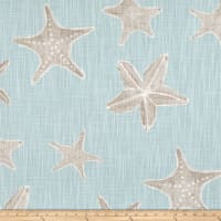 Premier Prints Sea Life Slub Canvas Blue Haze