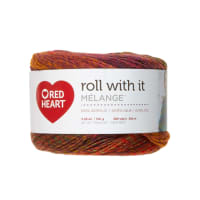 Red Heart Roll with it Melange Curtain Call