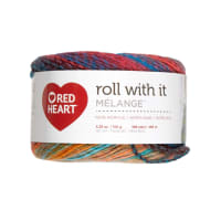Red Heart Roll with it Melange Show Time