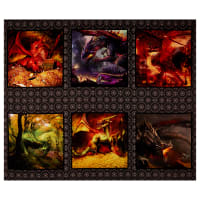 "In The Beginning Digital Dragons Small Dragon 36"" Panel Multi"