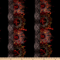 In The Beginning Digital Dragons Flame Border Red/Black