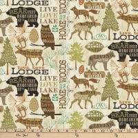 Live, Lodge, Love Cream/Brown