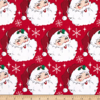 Fabric Traditions Holiday Jolly Santa Cotton