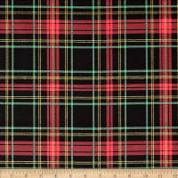 Fabric Traditions Holiday Plaid with Glitter Multi