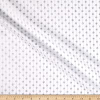 Fabric Traditions Striped Dot With Glitter White