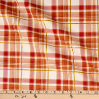 Fabric Traditions Harvest Plaid With Metallic