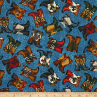 Fabric Traditions Cowboy Boots Multi