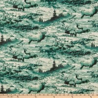 Fabric Traditions Turquoise Deer Multi