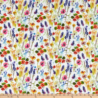 Dear Stella Digital High Seas Wild Flowers White