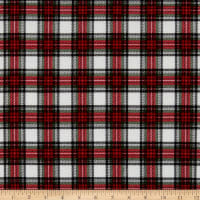 Timeless Treasures Flannel Holiday Plaid Cream