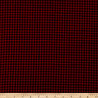Timeless Treasures Flannel Holiday Check Red