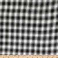 Timeless Treasures Strawberry Patch Gingham Check Black