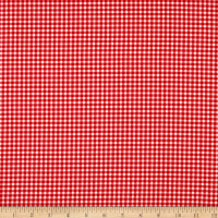 Timeless Treasures Strawberry Patch Gingham Check Red